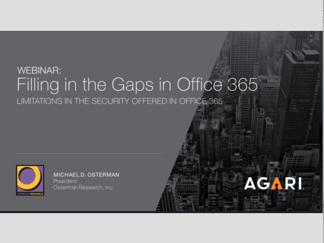 Osterman Research: Filling the Security Gaps in Office 365