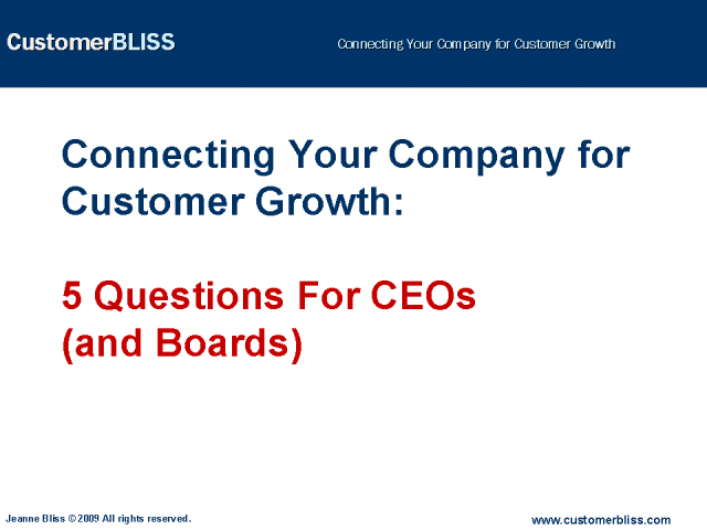 Connecting Your Company for Customer Growth: 5 Questions For CEOs