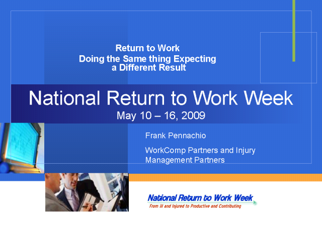 Return to Work Broken Record