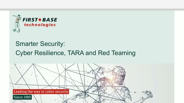 Smarter Security: Cyber Resilience, TARA and Red Teaming