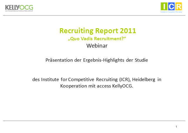 Quo Vadis Recruitment 2011? (in German)