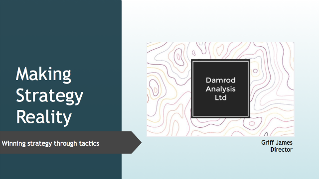 Making Security Strategy Reality: Winning Strategy through Tactics