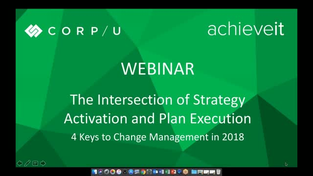 Intersection of Strategy Activation & Plan Execution: Keys to Change Management