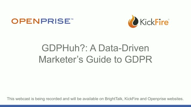GDPHuh? A Data-Driven Marketer's Guide to GDPR