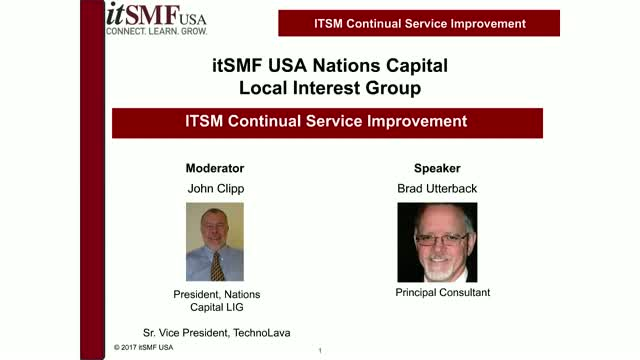 ITSM CONTINUAL SERVICE IMPROVEMENT