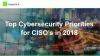 Top Cybersecurity Priorities for CISOs