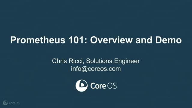 Prometheus 101: Overview and Demo