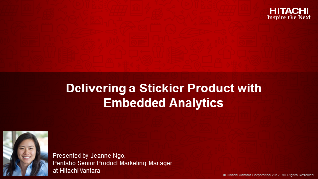 Delivering a Stickier Product with Embedded Analytics