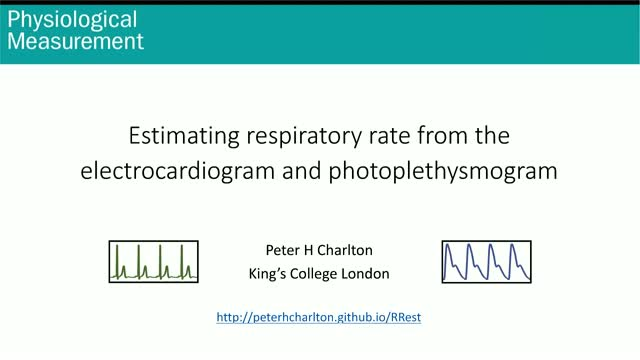 Estimating respiratory rate from the electrocardiogram and photoplethysmogram