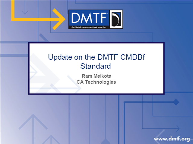 Update on the CMDBf Standard