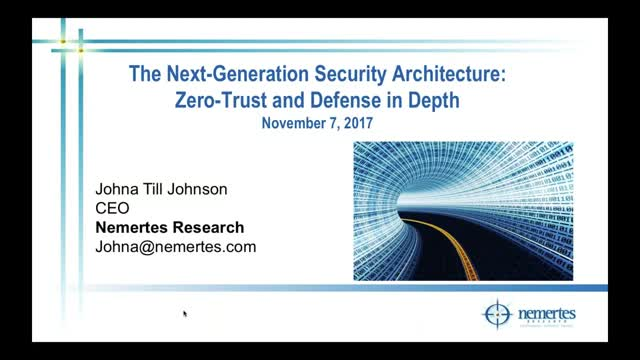 The Next Generation Security Architecture Zero Trust And Defense In Depth