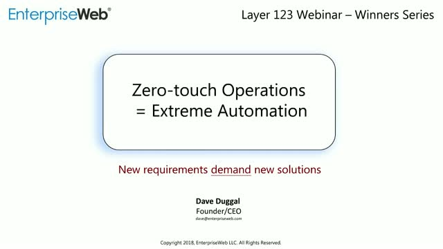The Winners - Zero-Touch Operations = Extreme Automation