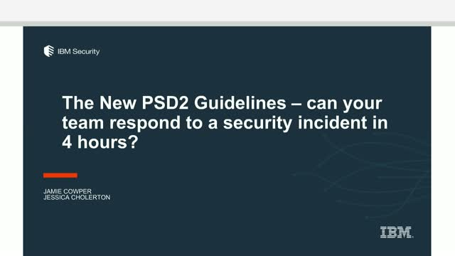 New PSD2 guidelines: Can your team respond to a security incident in 4 hours?