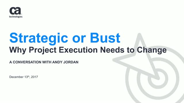 Strategic or Bust, Why Project Execution Needs to Change