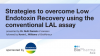 Strategies to overcome Low Endotoxin Recovery using the conventional LAL assay
