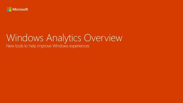 Discover proactive insights with Windows Analytics