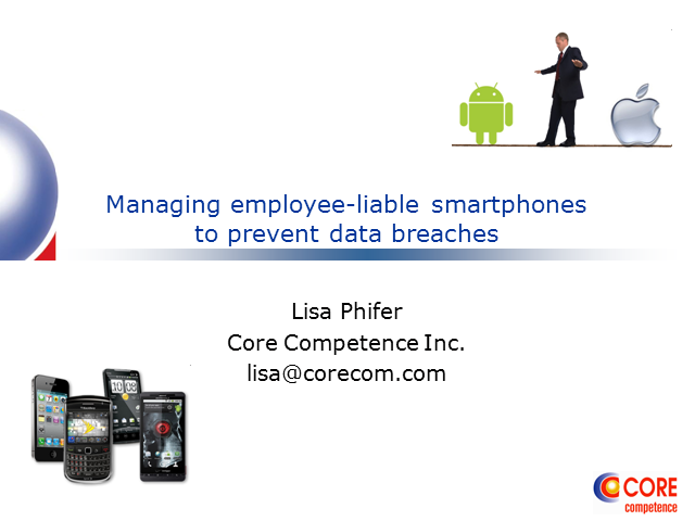 Managing Employee-Liable Smartphones to Prevent Data Breaches