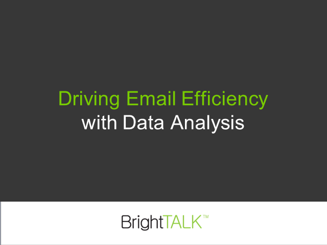Driving Email Efficiency with Database Analysis
