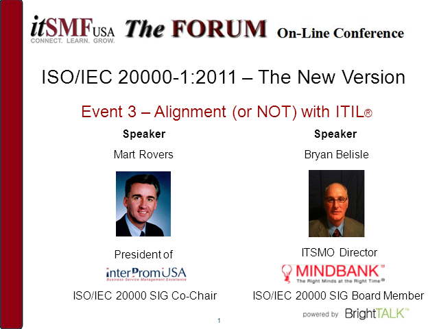 ISO/IEC 20000:2011 – The new version:  (Non-)Alignment with ITIL