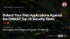 Defend Your Web Applications Against the OWASP Top 10 Security Risks