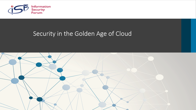 Security in the Golden Age of Cloud
