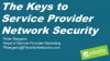 The Keys to Service Provider Network Security