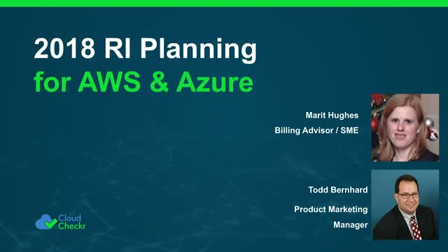 2018 RI Planning for AWS and Azure