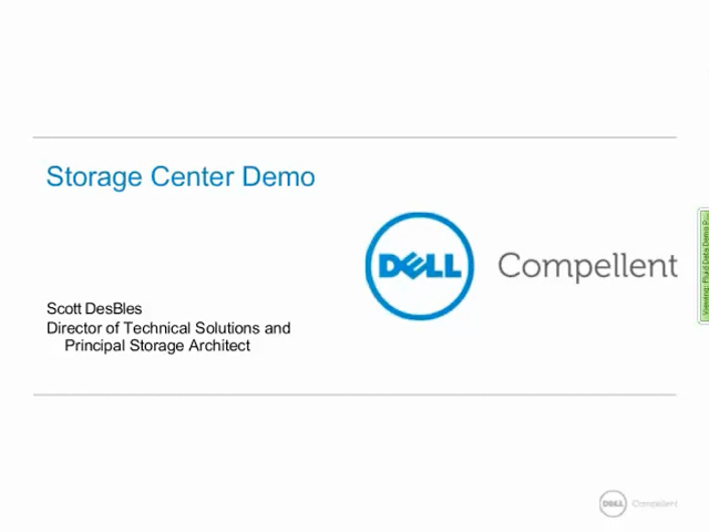 Dell Compellent Storage Center Demo