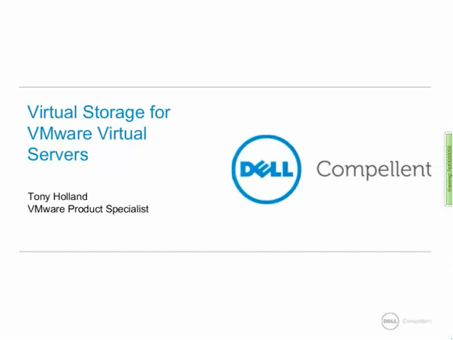 Virtual Storage for Virtual Servers