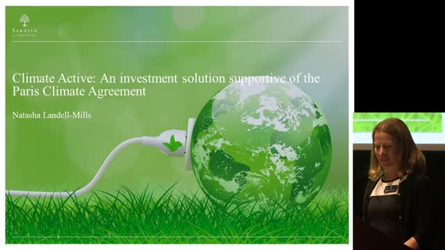 Climate Active: An investment solution supportive of the Paris Climate Agreement