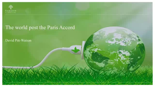 The world post the Paris Accord
