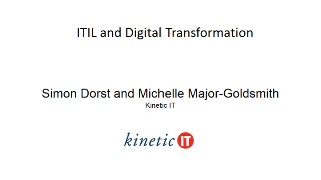 ITIL and Digital Transformation