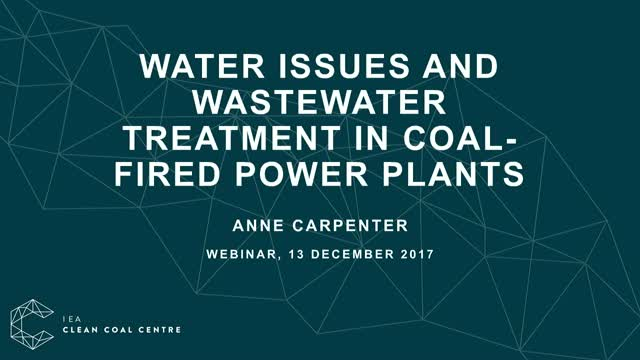 Water issues and wastewater treatment in coal-fired power plants