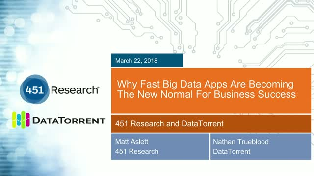 Why Fast Big Data Apps Are Becoming The New Normal For Business Success