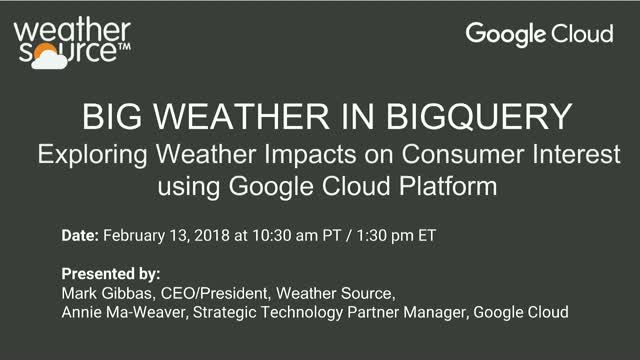 Big Weather in BigQuery