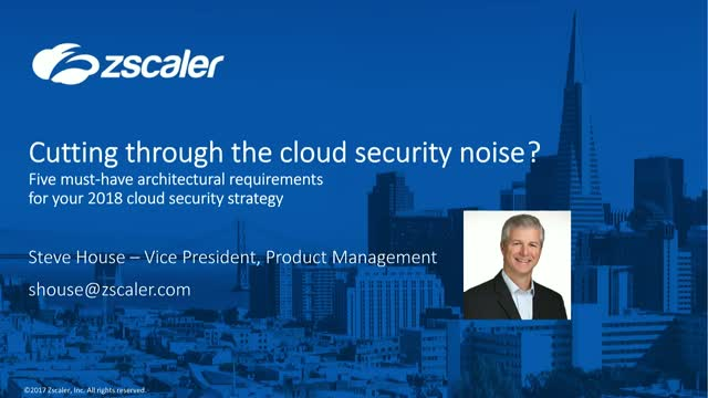Cutting through the Cloud Security Noise: 5 Must-have Architectural Requirements