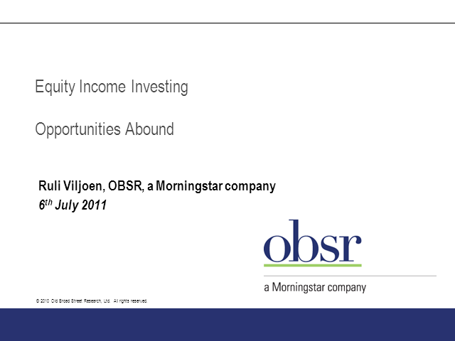 Equity Income Sector Review