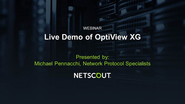 Live Demo of OptiView XG