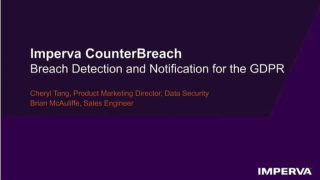 Part 4: Breach Detection and Notification for the GDPR