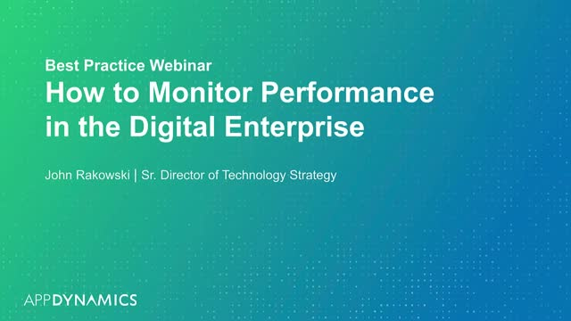 How to Monitor Performance in the Digital Enterprise