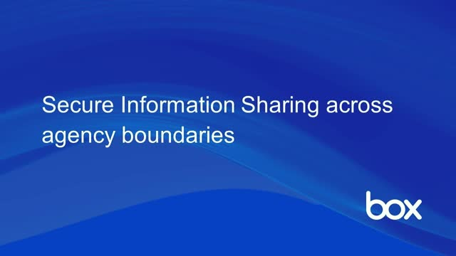 Secure Information Sharing across Agency Boundaries