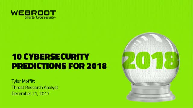 10 Cybersecurity Predictions for 2018