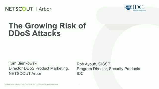 The Growing Risk of DDoS Attacks