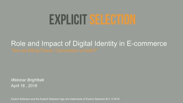 Role and Impact of Digital Identity in E-commerce