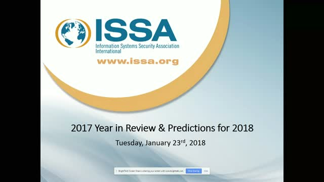 ISSA International Series:  2017 Year in Review & Predictions for 2018