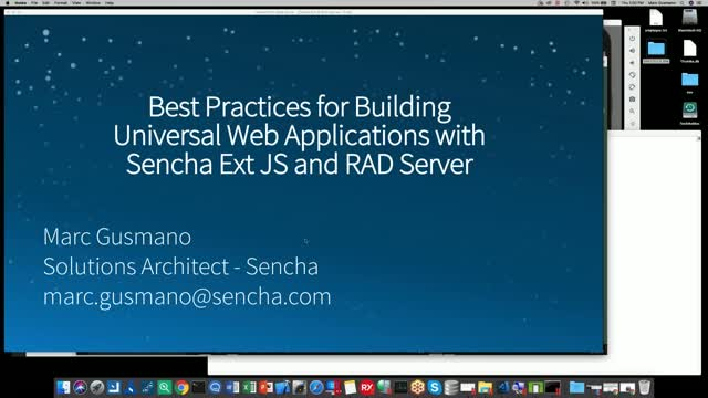 SNC - Best Practices for Building Universal Web Apps with Ext JS and RAD Serve