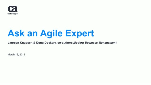 Ask an Agile Coach Virtual Discussion