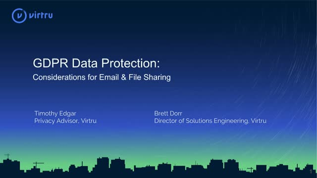 GDPR Data Protection: Your Checklist for Email and File Sharing Protections