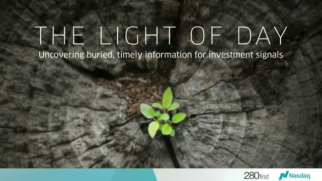 The Light of Day; Uncovering buried, timely information for investment signals