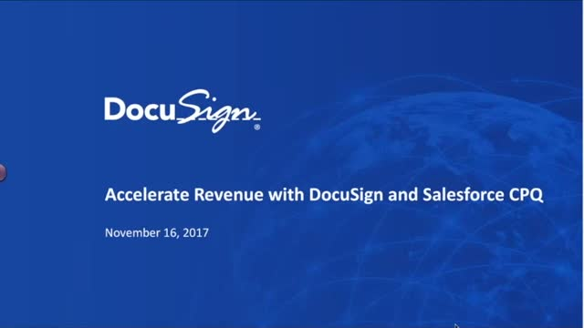 Accelerate Revenue with DocuSign and Salesforce CPQ